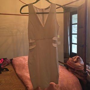 Beautiful White dress cutout dress,